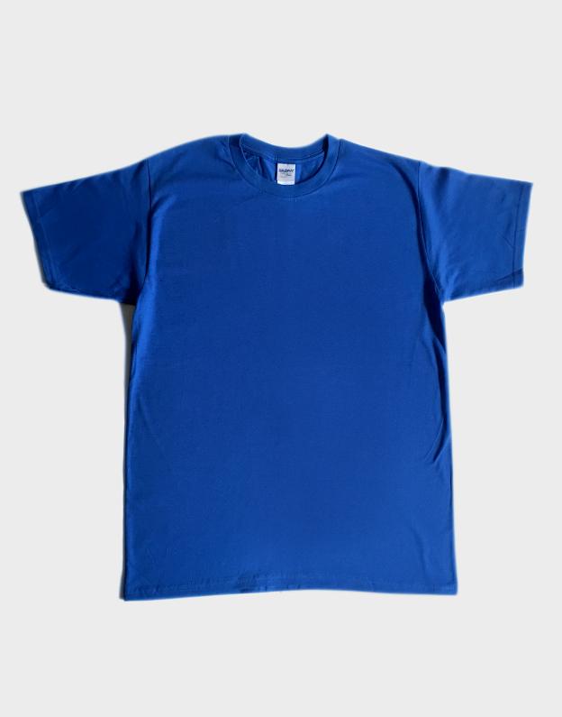 เสื้อยืดเปล่า GILDAN (สีน้ำเงิน)