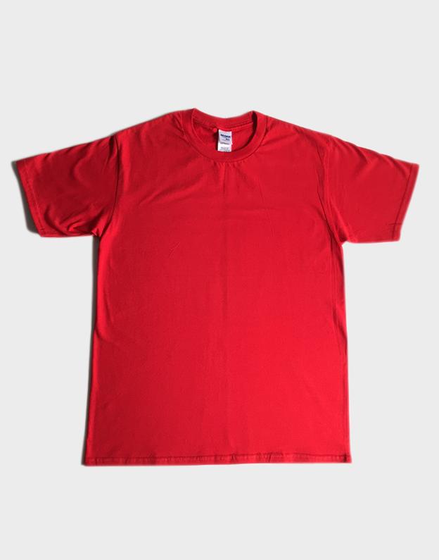 เสื้อยืดเปล่า Gildan สีแดง